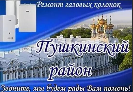 Ремонт газовых водонагревателей в Пушкине